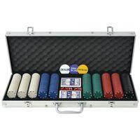 vidaXL Set de poker cu 1000 de jetoane din aluminiu