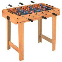 vidaXL Mini masă de fotbal, 69 x 37 x 62 cm, arțar