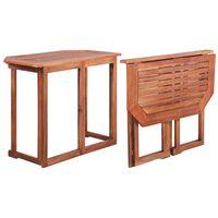 vidaXL Masă de bistro, 90 x 50 x 75 cm, lemn masiv de acacia