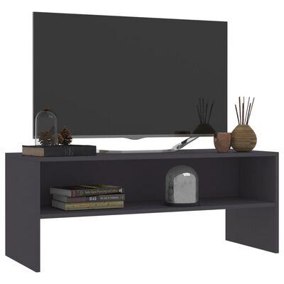 vidaXL Comodă TV, gri, 100 x 40 x 40 cm, PAL
