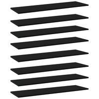 vidaXL Plăci pentru bibliotecă, negru, 8 buc., 100 x 30 x 1,5 cm, PAL