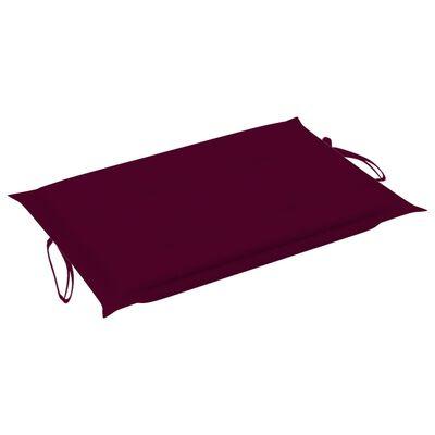 vidaXL Pernă de șezlong, roșu vin, 186x58x4 cm