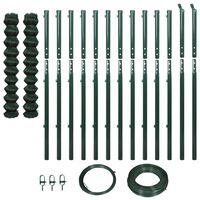 vidaXL Gard plasă de sârmă cu stâlpi, verde, 1,97 x 25 m