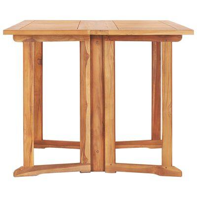 vidaXL Set mobilier de exterior pliabil, 7 piese, lemn masiv de tec