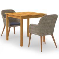 vidaXL Set mobilier de grădină, 5 piese, maro