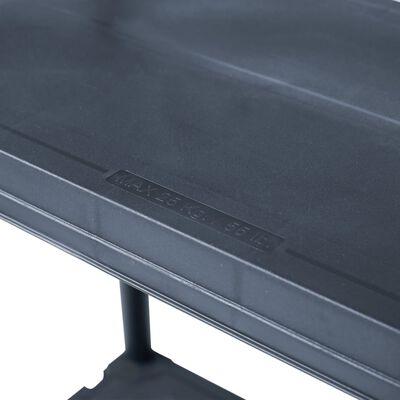 vidaXL Rafturi de depozitare 2 buc. negru 60x30x180 cm plastic 125 kg
