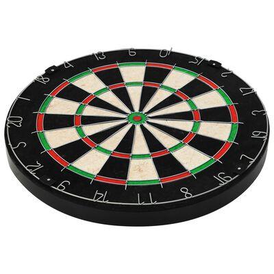 vidaXL Placă de darts profesională cu 6 săgeți, sisal ,