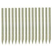 vidaXL Stâlpi de gard ascuțiți, 15 buc., 4x150 cm, lemn de pin tratat