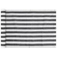 vidaXL Prelată pentru balcon din HDPE, 75 x 600 cm, antracit și alb