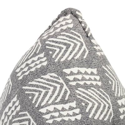 vidaXL Canapea tip sac, gri, material textil, petice