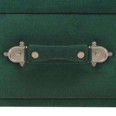 vidaXL Banchetă cu sertare, verde, 80 cm, catifea