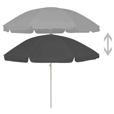 vidaXL Umbrelă de plajă, antracit, 240 cm