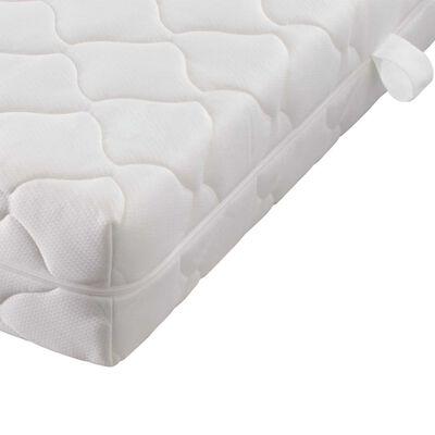 vidaXL Pat cu saltea, maro, 140 x 200 cm, material textil