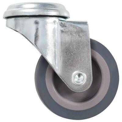 vidaXL Roți pivotante cu gaură pentru șurub, 4 buc., 50 mm