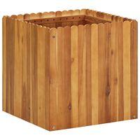 vidaXL Strat înălțat de grădină, 50 x 50 x 50 cm, lemn masiv de acacia