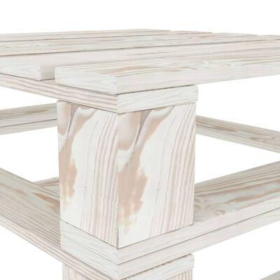 vidaXL Mese din paleți pentru grădină, 2 buc., alb, lemn