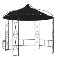 vidaXL Pavilion, antracit, 300 x 290 cm, rotund