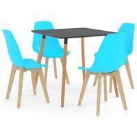 vidaXL Set mobilier de bucătărie, 5 piese, albastru
