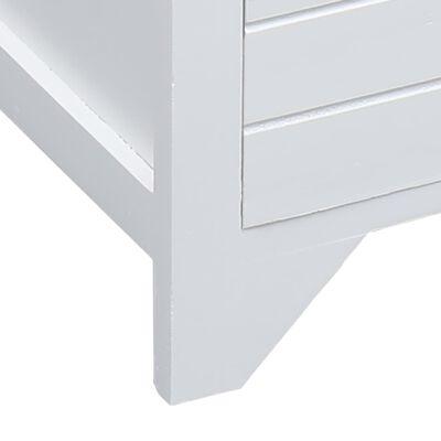vidaXL Comodă TV, alb, 115 x 30 x 40 cm, lemn de paulownia