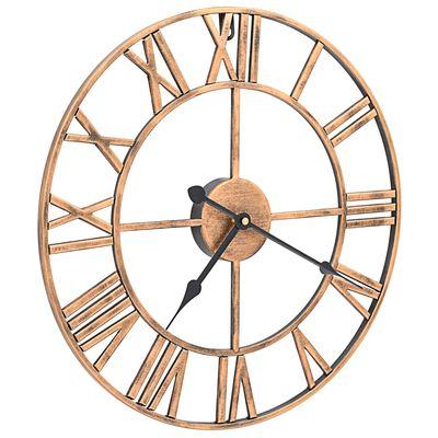 vidaXL Ceas de perete, auriu, 40 cm, metal