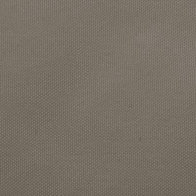 vidaXL Parasolar, gri taupe, 3x3x3 m, țesătură oxford, triunghiular