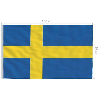 vidaXL Steag Suedia și stâlp de aluminiu, 4 m