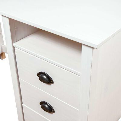 vidaXL Birou Hill Range, alb, 150x50x74 cm, lemn masiv de pin
