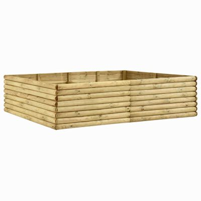 vidaXL Strat înălțat de grădină, 206x150x48 cm, lemn de pin tratat