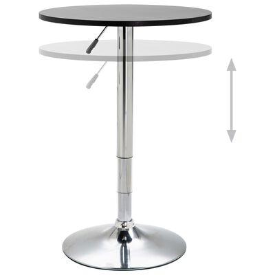 vidaXL Set mobilier de bar, 3 piese, negru, piele ecologică