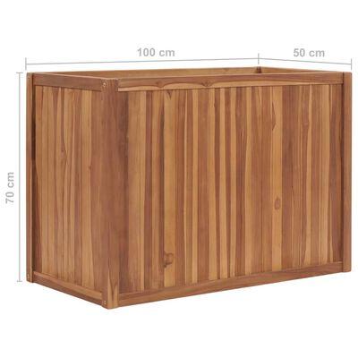 vidaXL Strat înălțat, 100 x 50 x 70 cm, lemn masiv de tec