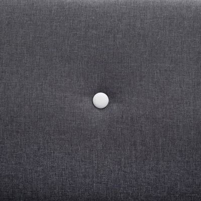 vidaXL Canapea cu 2 locuri, textil, 115 x 60 x 67 cm, gri închis
