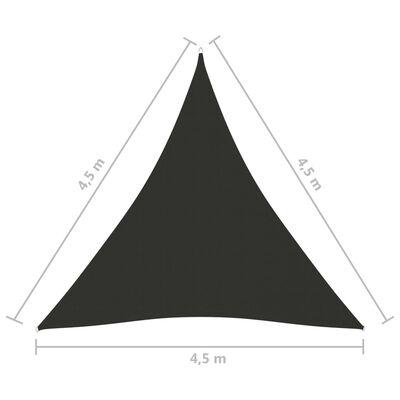 vidaXL Parasolar, antracit 4,5x4,5x4,5 m țesătură oxford, triunghiular