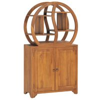 vidaXL Dulap cu raft Yin Yang, 70 x 30 x 130 cm, lemn masiv de tec