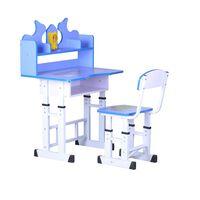 Unic Spot RO, Set birou copii albastru, 69x45x88-98cm