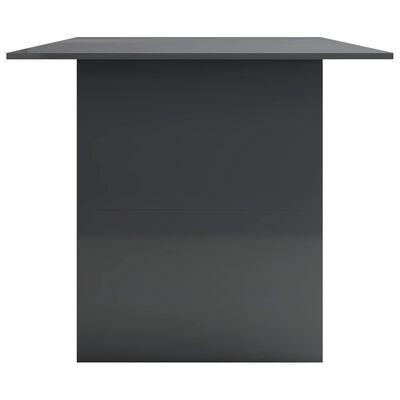 vidaXL Masă de bucătărie, gri foarte lucios, 180 x 90 x 76 cm, PAL