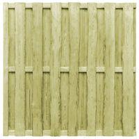 vidaXL Panou de gard cu șipci alternative, verde 180x180 cm, lemn pin