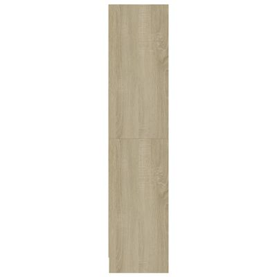 vidaXL Bibliotecă cu 3 rafturi, alb & stejar Sonoma, 60x24x108 cm, PAL