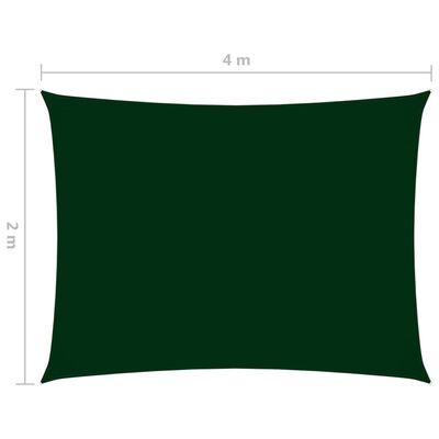 vidaXL Parasolar, verde închis, 2x4 m, țesătură oxford, dreptunghiular