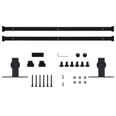 vidaXL Set feronerie uși glisante pentru hambar, 200 cm, oțel carbon
