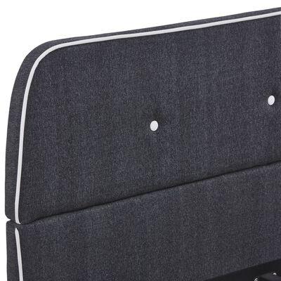 vidaXL Cadru de pat, gri închis, 140 x 200 cm, material textil