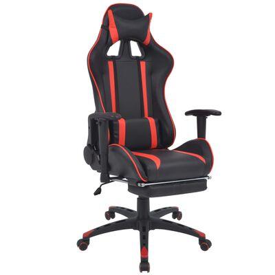 vidaXL Scaun birou rabatabil, design racing, suport picioare, roșu