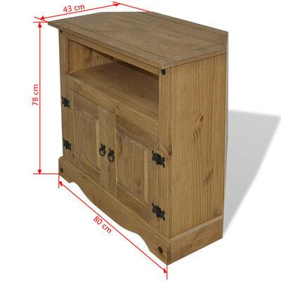vidaXL Comodă stil mexican Corona din lemn de pin 80 x 43 x 78 cm