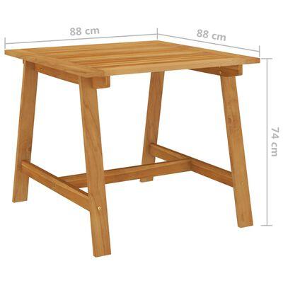 vidaXL Set de masă pentru grădină, 3 piese, gri