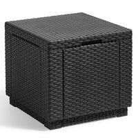 Allibert Taburet tip cub cu spațiu de depozitare, grafit, 213816