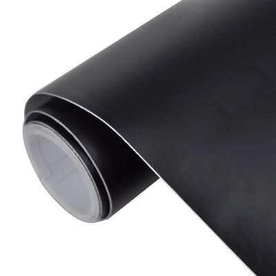 Autocolant folie impermeabilă mată Negru 200 x 152 cm