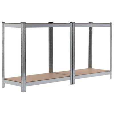 vidaXL Raft de depozitare, argintiu, 80x40x160 cm, oțel și MDF