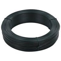 vidaXL Fir de tensionare pentru gard 250 m 1,4/2 mm verde închis, oțel