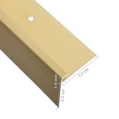 vidaXL Profile trepte în formă de F, 15 buc., auriu, 100 cm, aluminiu