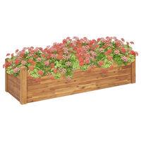 vidaXL Strat înălțat de grădină, 160x60x44 cm, lemn masiv de acacia