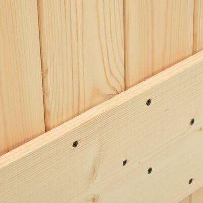 vidaXL Ușă, 80 x 210 cm, lemn masiv de pin